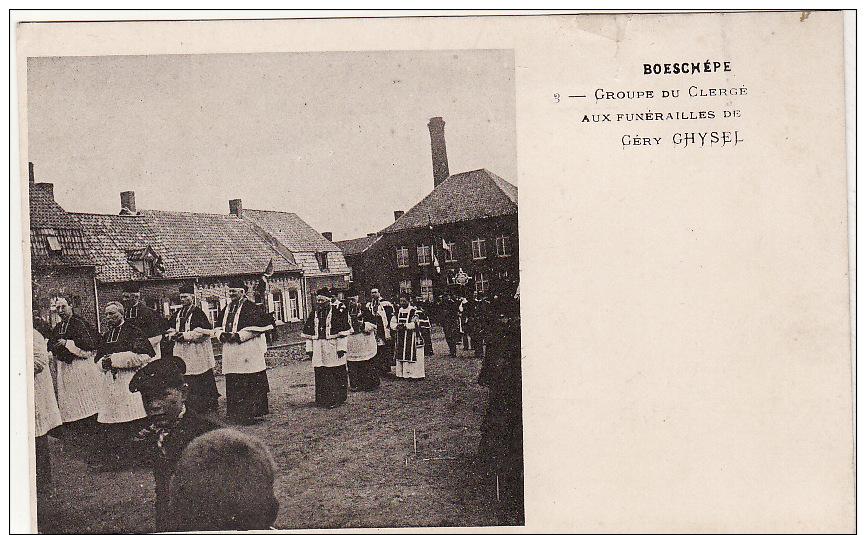 BOESCHEPE -  Le Drame -  Groupe Du Clergé Aux Funérailles De Gery Ghysel (voir Descriptif ) - France