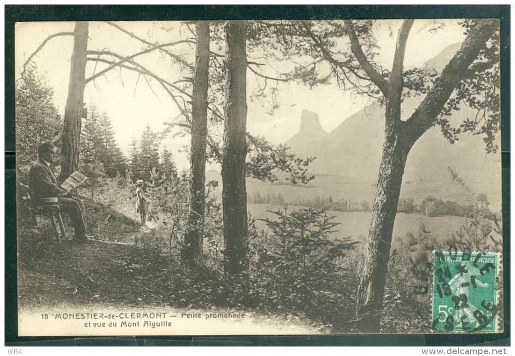 18 -  Monestier De Clermont -petite Promenade Et Vue Du Mont Aiguille   Bcu84 - Autres Communes