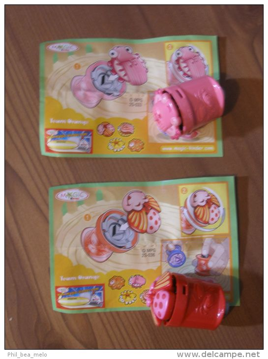 KINDER SURPRISE 2006 TOUPIES - N°2S´033 / 2S-036 - BUGS ACTION + BPZ - Kinder & Diddl