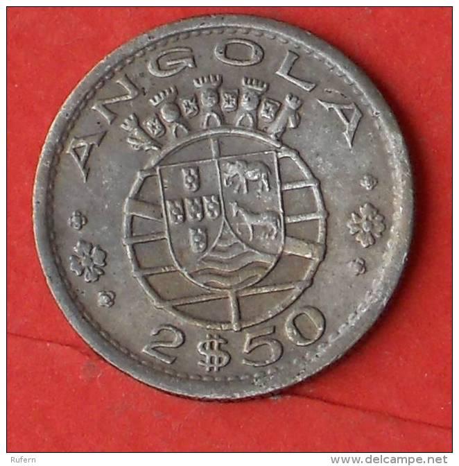 ANGOLA  2,5  ESCUDOS  1956   KM# 77  -    (Nº02541) - Angola