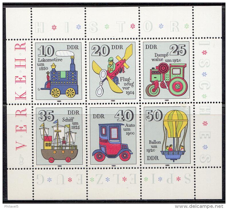 Oost-Duitsland - Historisches Spielzeug (I)  - Michel 2566 - 2571 Kleinbogen - Xx/postfris/MNH - [6] Oost-Duitsland