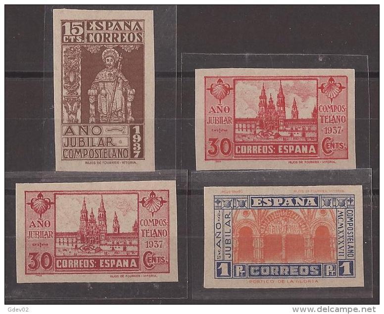 ES833s-L2142TFSC.Spain. Apostol Santiago.AÑO JUBILAR COMPOSTELANO.Catedral.d19 37.( Ed 833/5**+834as**)sin Charnela.LUJO - Sin Clasificación