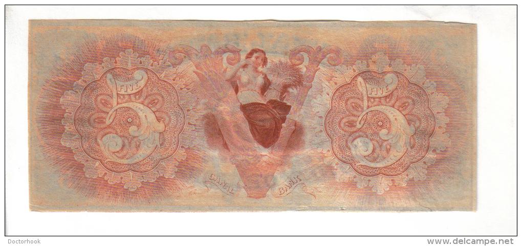 CANAL BANK---New Orleans    $5.00  DOLLAR  Bill  1840's Haxby LA-105-G12a---PMG 66-EPQ-UNC. - Zonder Classificatie