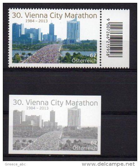 Austria 2013 > Mi 3062 > Vienna City Marathon > Set New MNH ** + Black Print - 1945-.... 2nd Republic