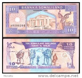 Somaliland #2b, 10 Shillings, 1996, UNC / NEUF - Somalie