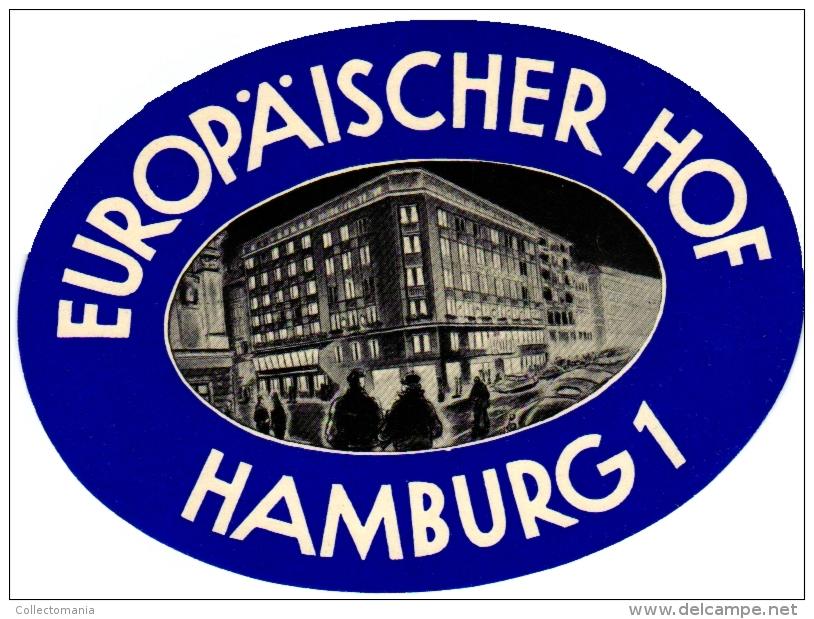 10 Hotel Labels Deutschland Allemagne Duitsland Mannheimerhof Frankfurterhof  Europaischerhof Heidelberg Eichholz - - Hotel Labels