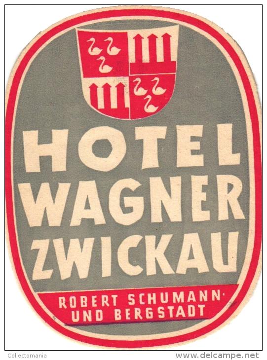 18  Hotel Labels GERMANY Duitsland Deutschland Assmannshausen - Driburg - Darmstadt - Frankfurt - Wurzburg - Bergstadt - - Hotel Labels