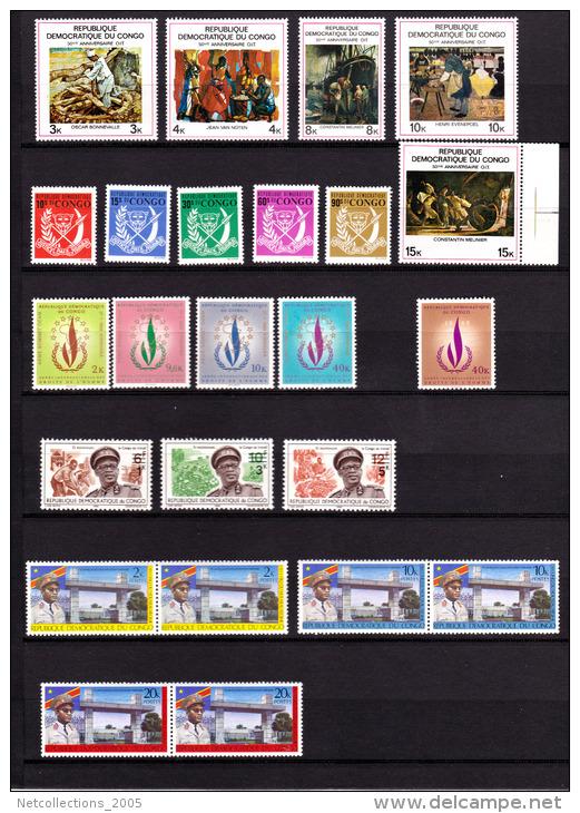 REPUBLIQUE DEMOCRATIQUE DU CONGO - LOT DE 174 TIMBRES NEUF OU OBLITERES - AFRIQUE CONGO ANCIENNE COLONIE BELGE - Collections