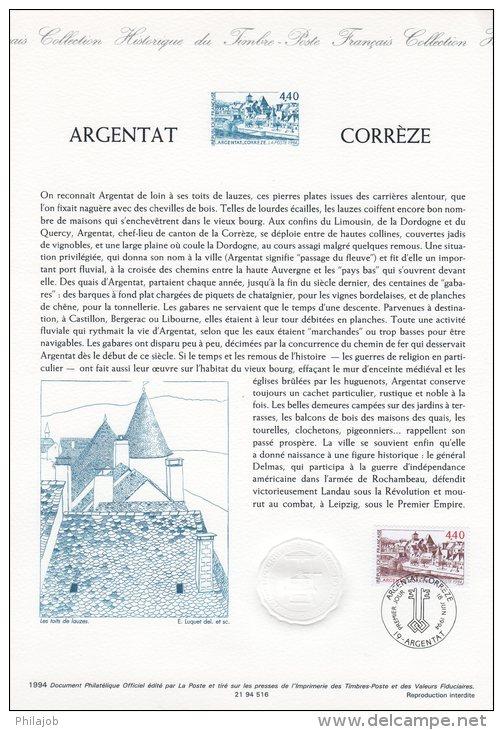 """Document Officiel DPO De 1994 N° 21 94 516 """" ARGENTAT CORREZE """" N° YT 2894 + Prix Dégressif ! - Documents De La Poste"""