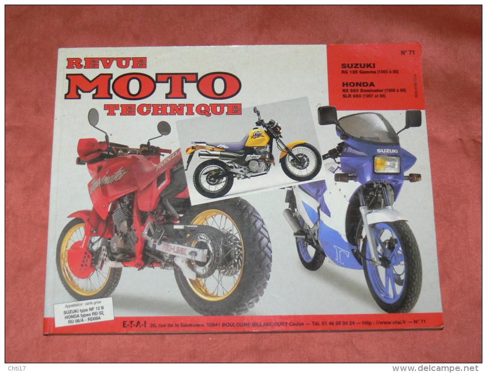 revue moto technique etai suzuki rg 125 gamma 1985 88 honda nx 650 dominator 1988 98 slr 650. Black Bedroom Furniture Sets. Home Design Ideas