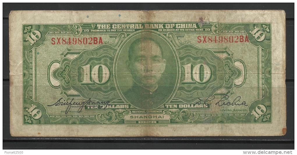 CHINE .   BILLET DE 10 DOLLARS    . - China