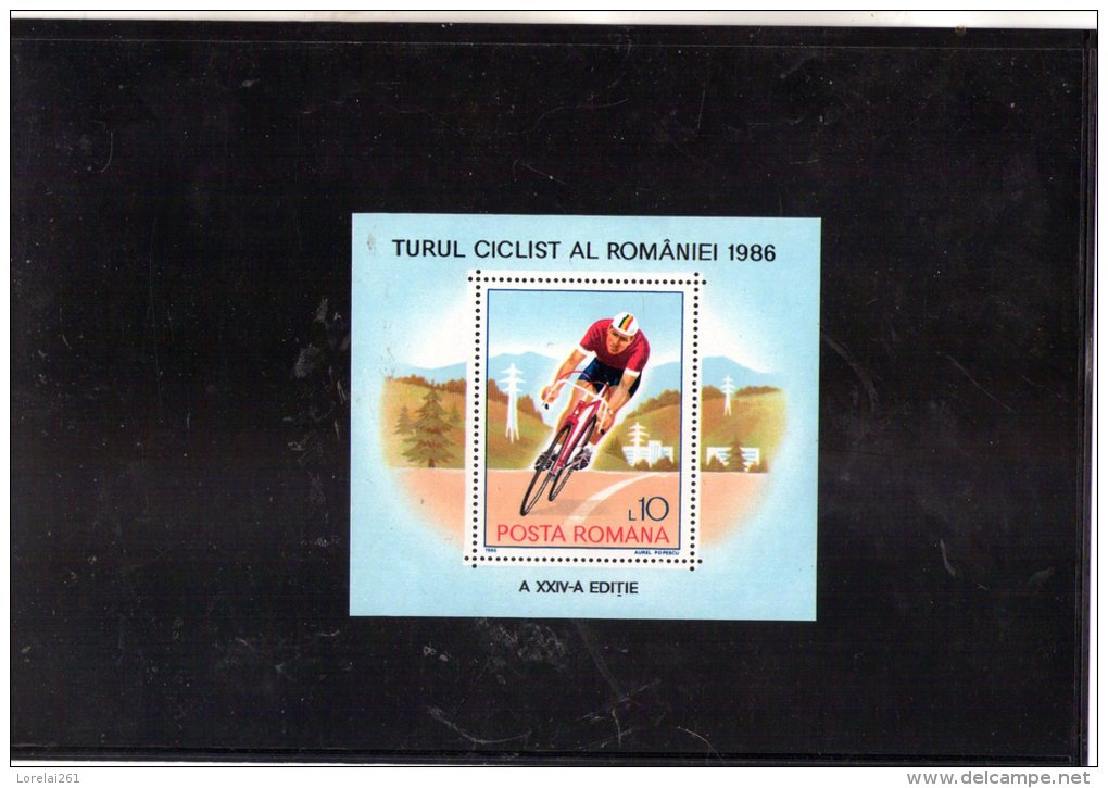 1986 TOUR CYCLISTE DE ROUMANIE  Mi Bl 229 Et Yv Bf 186 MNH - 1948-.... Republiken
