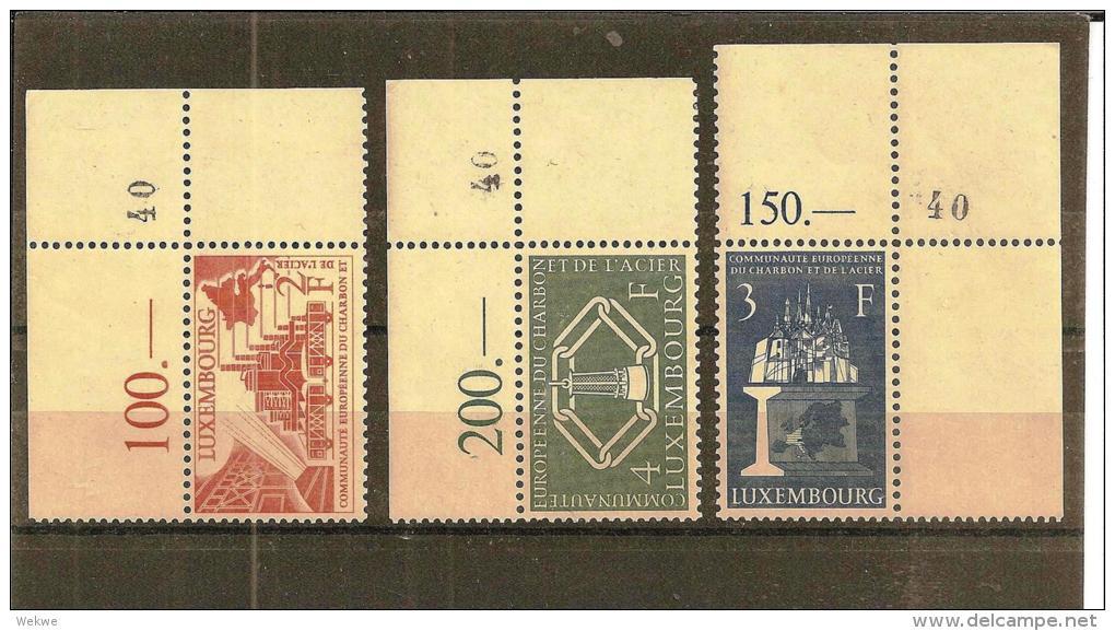 Lux Mi.nr.552-54/ LUXEMBURG -  Montanunion 1956 , Eckrand, Super Qualität** MNH - Luxemburg