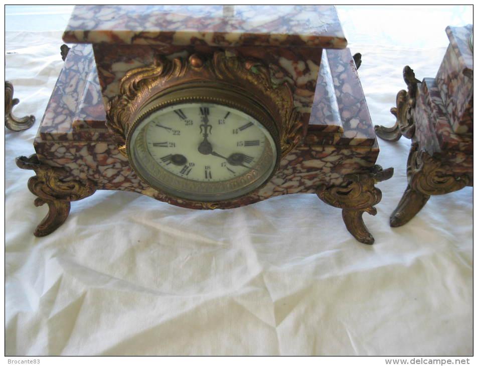 Horloges - GARNITURE DE CHEMINEE HORLOGE ET 2 CASSOLETTES EN ...