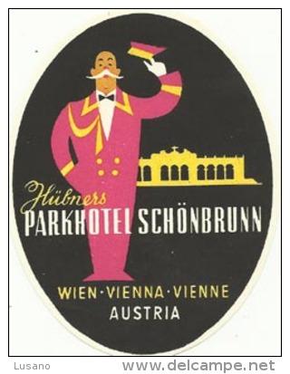 Etiquette De Bagage - Parkhotel Schönbrunn - Wien (Vienne) (Autriche) - Hotel Labels