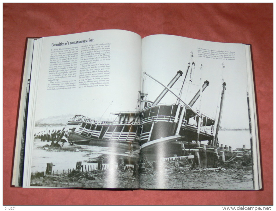 THE OLD WEST WESTERN THE RIVERMAN METIER  BATEAU A ROUE MISSOURI STERN RIVER  EDIT TIME LIFE BOOKS - 1850-1899