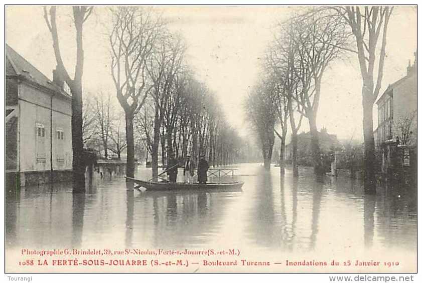 Juin13 1478 : La Ferté-sous-Jouarre  -  Inondations 1910  -  Boulevard Turenne - La Ferte Sous Jouarre