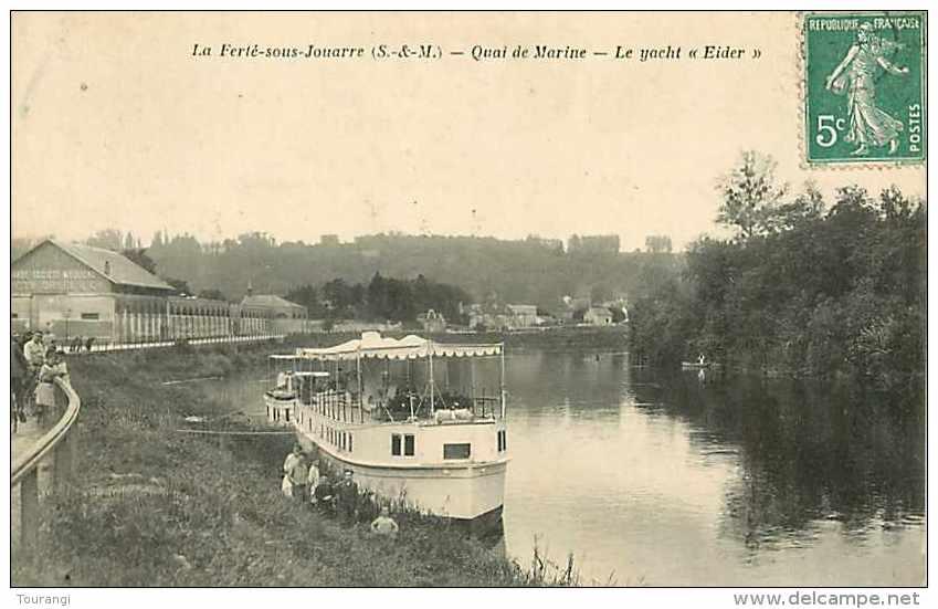 """Juin13 1489 : La Ferté-sous-Jouarre  -  Quai De Marine  -  Yacht """"Eider"""" - La Ferte Sous Jouarre"""