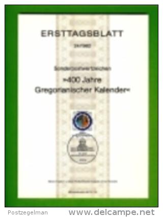 GERMANY, 1982, Ersttagblatt Nr 24,  400 Jahre Gregorianischer Kalende - Covers & Documents