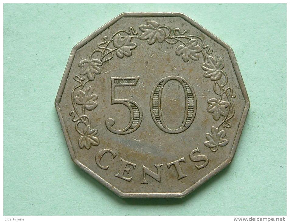 1972 - 50 Cents / KM 12 ! - Malte