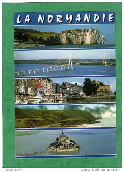 La Normandie Haute Et Basse Etretat Pont De Normandie Mont-Saint-Michel Honfleur ... - France
