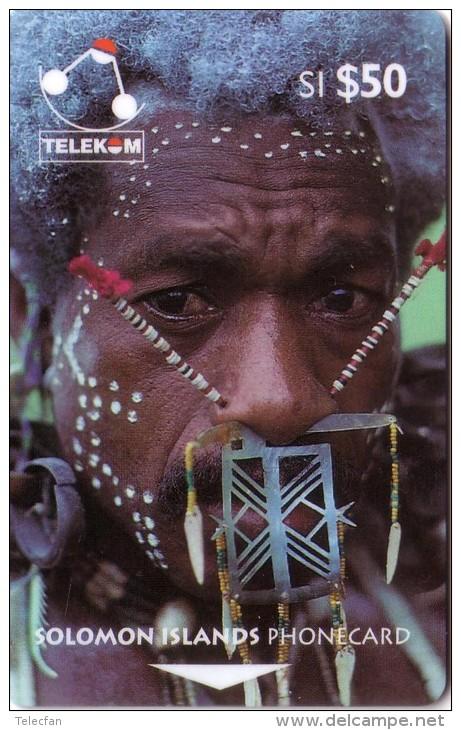 SALOMON SOLOMON ISLANDS MAN OF SANTA CRUZ 50$ UT N° 02SIE... LETTRE B OLDTIMER CARD ANCIENNE - Isole Salomon