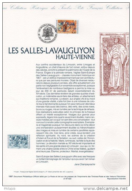 """Document Officiel De 1997 N° 21 97 523 """" LES SALLES-LAVAUGUYON / HAUTE-VIENNE  """" N° YT 3082 + Prix Dégressif ! DPO - FDC"""