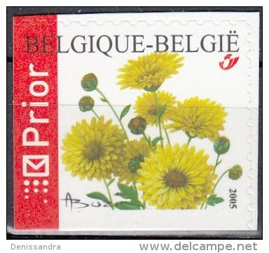 Belgique 2005 COB 3432A Neuf ** Cote (2016) 2.60 Euro Chrysanthème - Belgique