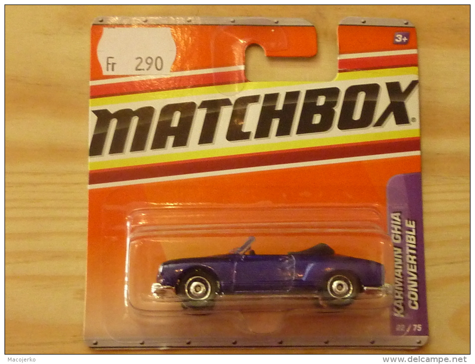 Matchbox 22, VW Karmann Ghia Convertible - Voitures, Camions, Bus