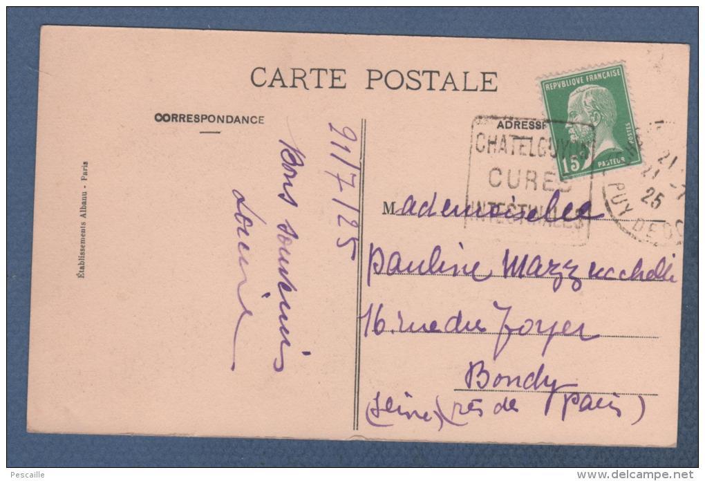 15 CANTAL - CP VIEILLE AUVERGNE - 1836 RUINES DU CHATEAU DE TOURNEMIRE - ILLUSTRATEUR J LARROCHE 1913 - E. A. ETS ALBANU - Andere Gemeenten