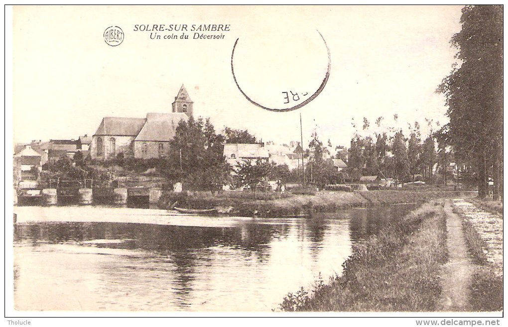 Solre-sur-Sambre (Lobbes-Hainaut)-+/-1910- Un Coin Du Déversoir- Edit. Albert - Lobbes