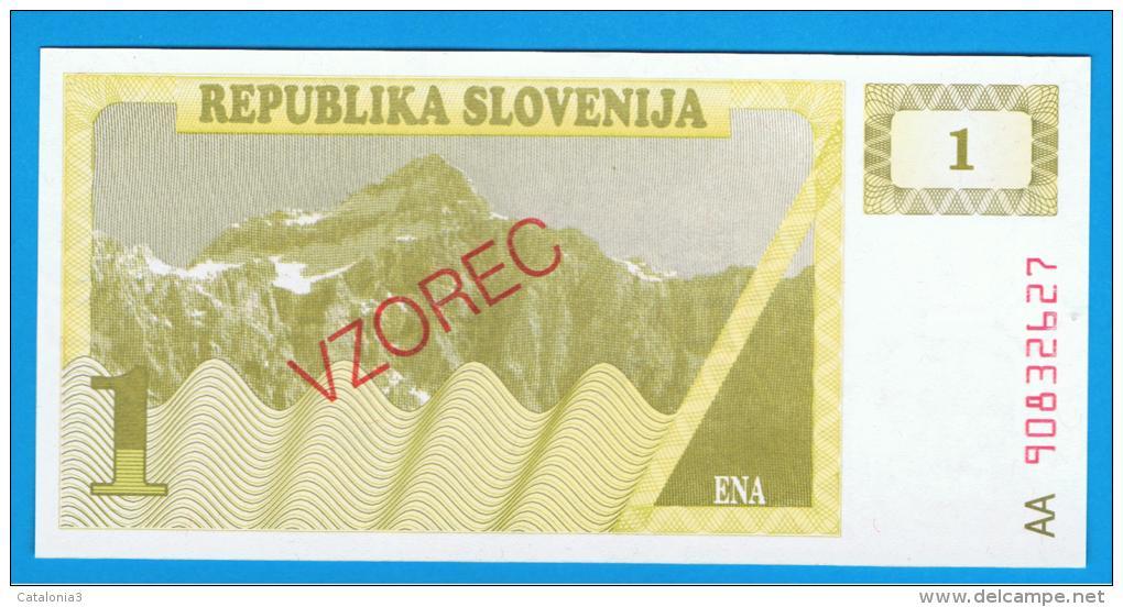 ESLOVENIA - 1 Tolar ND SC P-1S  SPECIMEN - Eslovenia