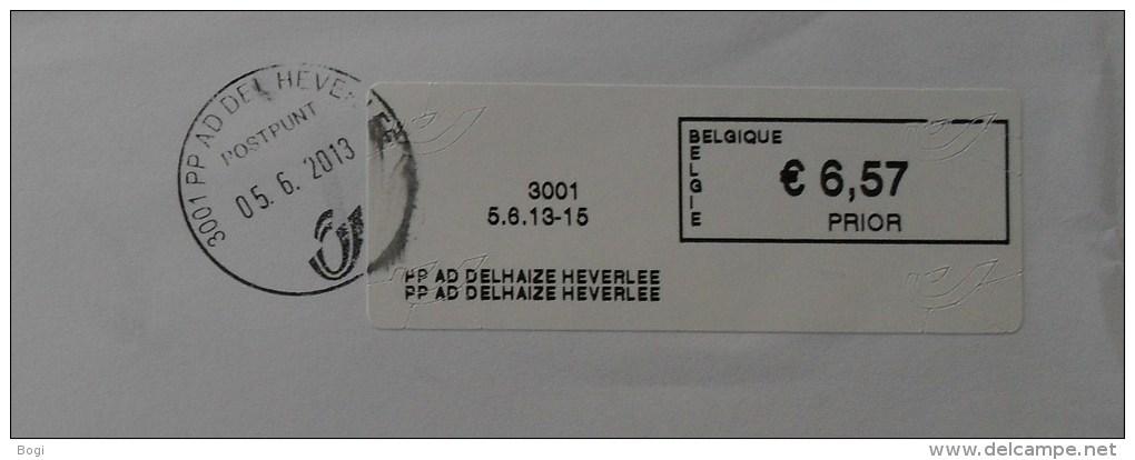 België 2013 PP AD Delhaize Heverlee 3001 Logo Bpost (fragment 114 X 228 Mm) - Vignette