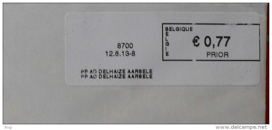 België 2013 PP AD Delhaize Aarsele 8700 Logo Bpost (briefomslag) - Vignettes D'affranchissement