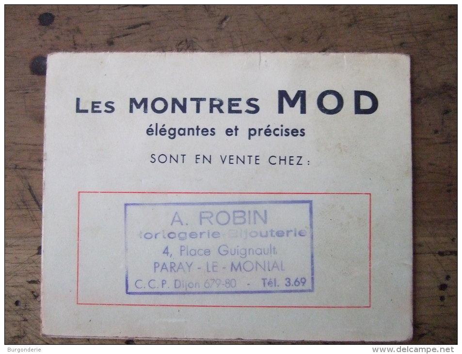 JOLI PETIT CALENDRIER PUBLICITAIRE  A 3 VOLETS / 1964 / MONTRES MOD / BIJOUTERIE  A. ROBIN / PARAY LE MONIAL (71) - Petit Format : 1961-70
