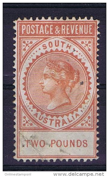 South Australia: 1887, Mi 60 , SG 200  , Cat Value UKP 2750, Used, Fold At Left Bottom Corner - Gebruikt