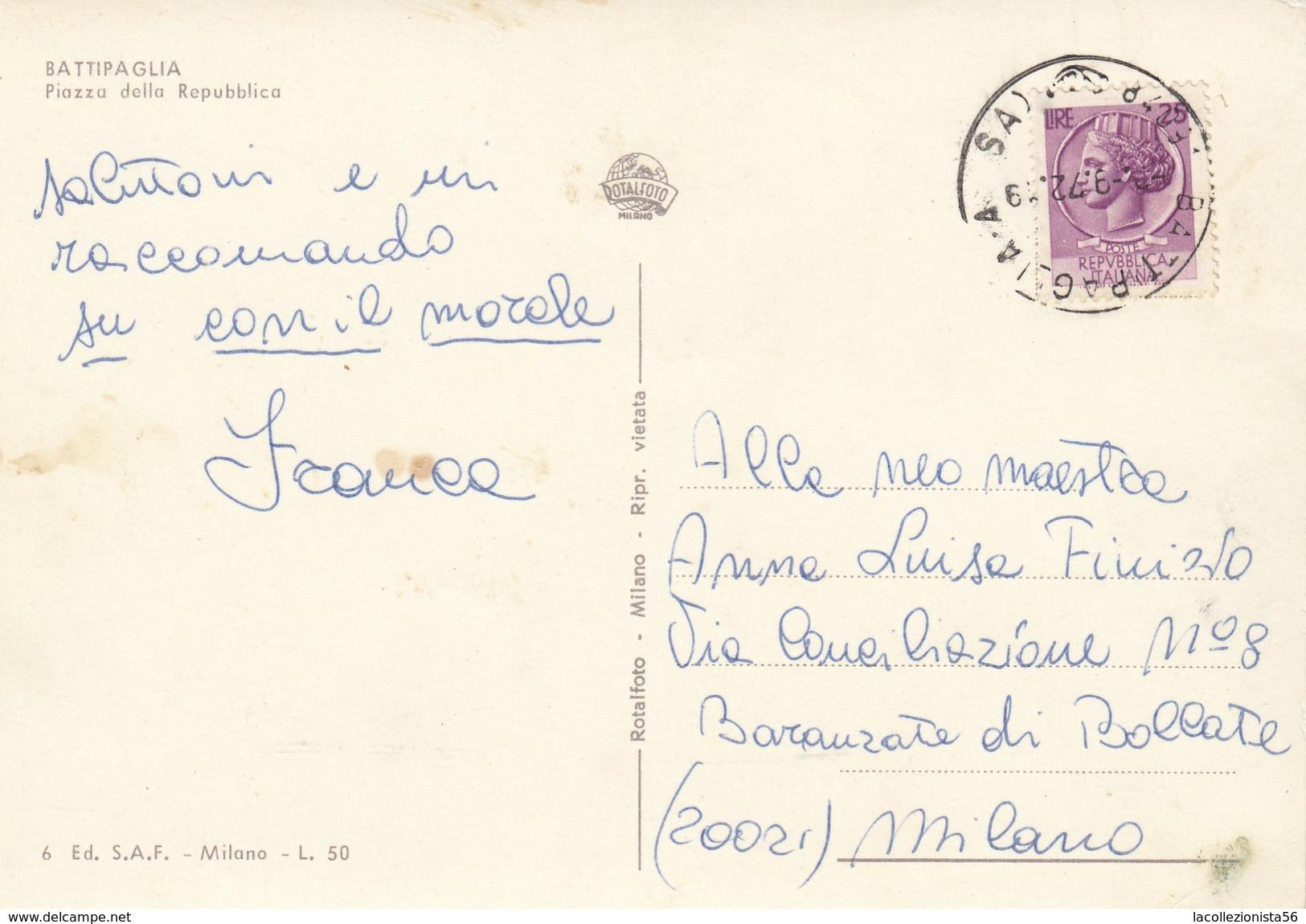 4640-BATTIPAGLIA(SALERNO)-PIAZZA DELLA REPUBBLICA-ANIMATA-FG - Battipaglia