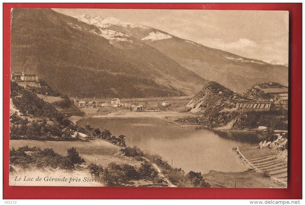 YSIER-23 Lac De Géronde Près De Sierre,  Château J.J. Mercier. Circulé, Timbre Manque. Ruedi - VS Valais
