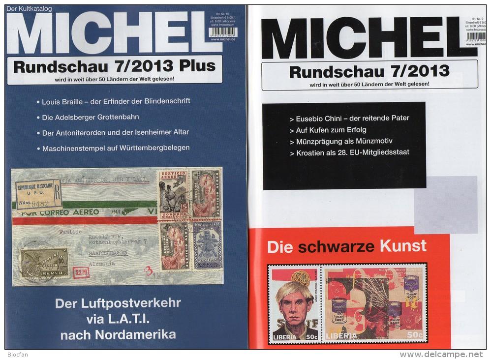 MICHEL Briefmarken Rundschau 7 + 7/2013plus Neu 10€ New Stamp Of The World Catalogue Magacine Of Germany 4 194371 105009 - Deutsch