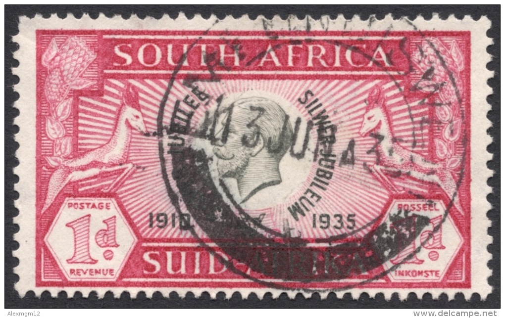 South Africa, 1 P. 1935, Sc # 69a, Used - South Africa (...-1961)