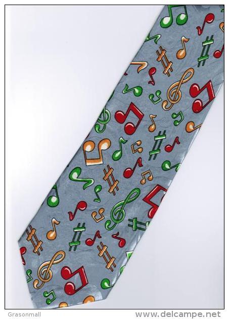 Musical Symbols #2 Cartoon Novelty Fancy Neck Tie - Autres Collections