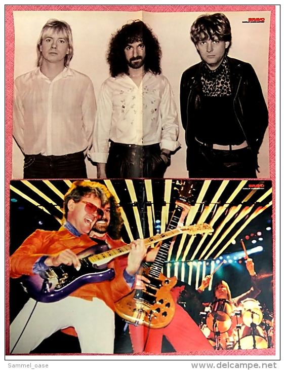 2 Kleine Musik Poster  Barclay James Harvest  -  1Rückseite : Christian Franke  -  Von Bravo Ca. 1982 - Plakate & Poster