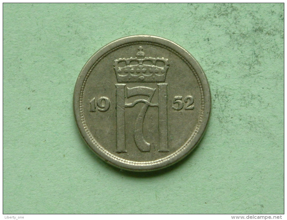 1952 - 25 ORE / KM 401 ( Uncleaned Coin / For Grade, Please See Photo ) !! - Norvège