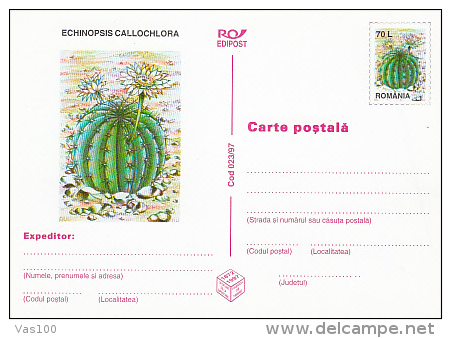 CACTUSSES, 6XPC STATIONERY, ENTIERE POSTAUX, 1997, ROMANIA - Sukkulenten