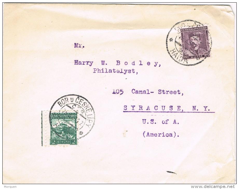 3834. Carta HAIDA, Bor U Ceske (Checoslovaquia) 1938. Comercial - Checoslovaquia