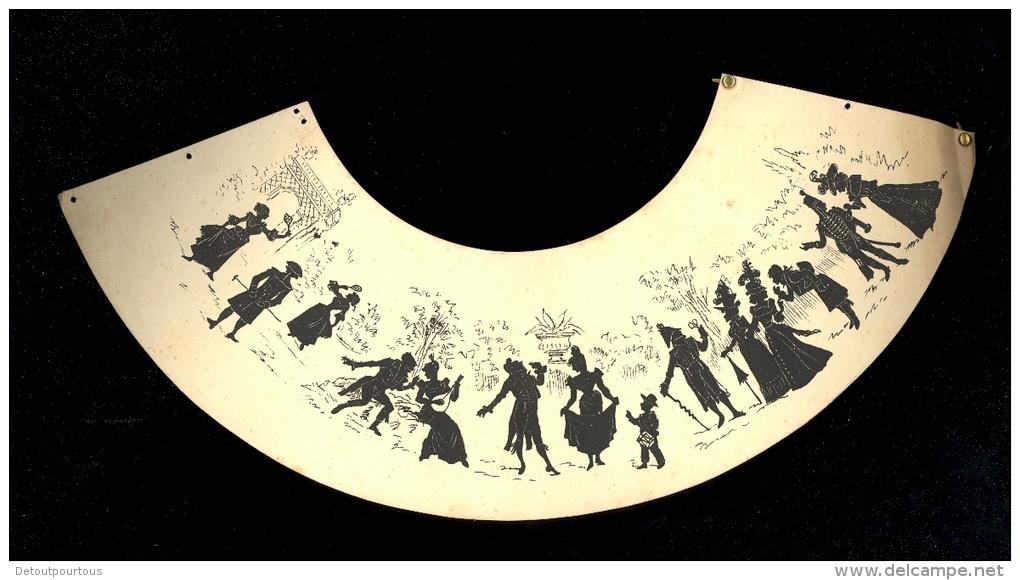 abat jour en papier motif silhouettes ombres chinoises. Black Bedroom Furniture Sets. Home Design Ideas