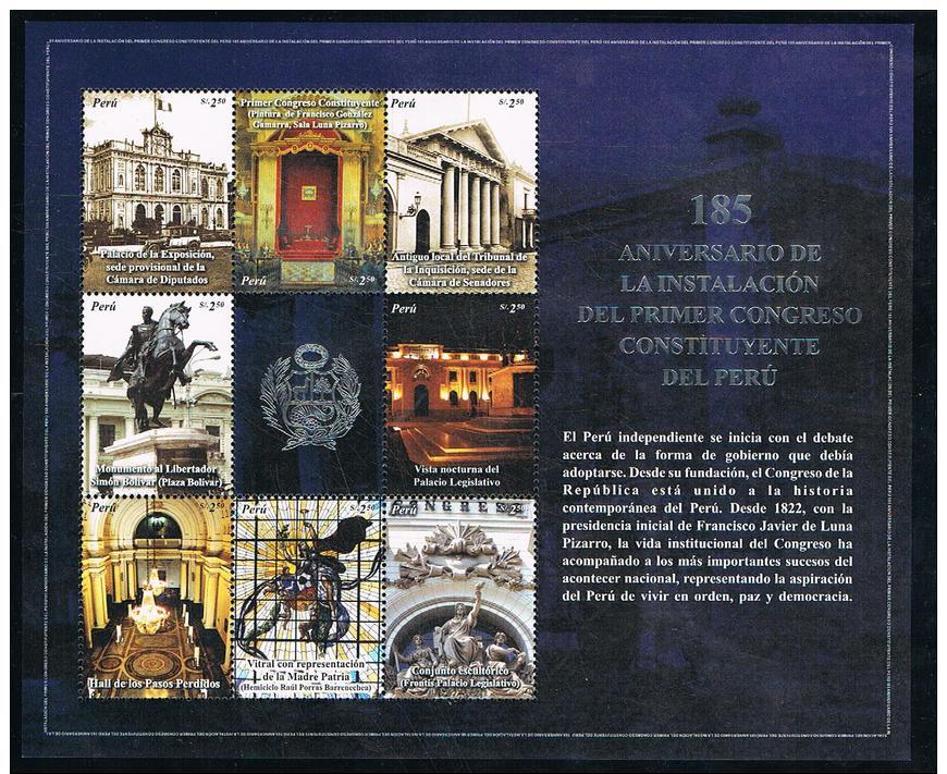 Pérou 2007 :  Anniversaire Du Congrès De La République  N° 1664 à 1668 Neuf** - Peru