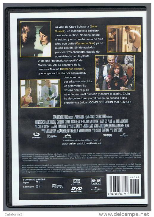 PELICULA En DVD - Original Usada - COMO SER JOHN MALKOVICH - DVD