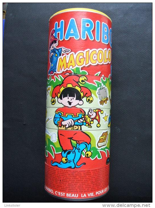 Boîte-jeu HARIBO Magicolo - Déguisements Pirate Soldat Bouffon Et Jeu De Billes Sur Le Couvercle - Scatole