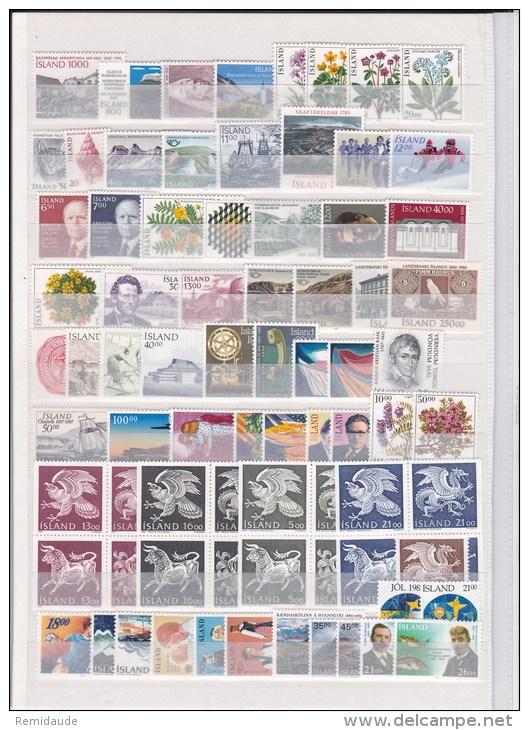 ISLANDE -  1958/1989 COLLECTION **  COTE = 201 EUROS - Islande